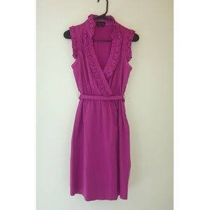 Max and Cleo Fuchsia Wrap Front Dress